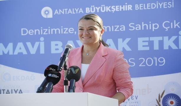Büyükşehir Belediyesi TÜRÇEV ile ortak Mavi Bayrak etkinliği düzenledi