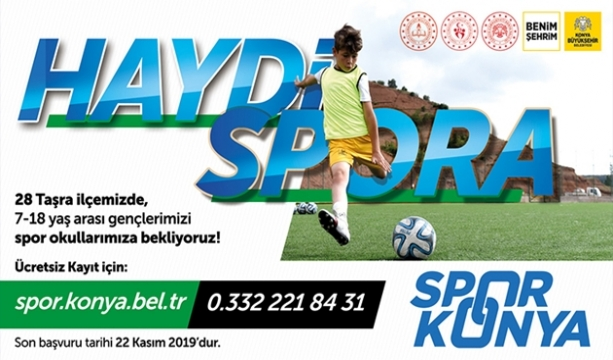 7-18 Yaş Arası Gençler Haydi Spora