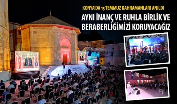 Konya'da 15 Temmuz Kahramanları Anıldı