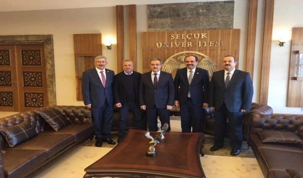 TBMM Komisyon Başkanlarından Rektör Şahin'e Ziyaret